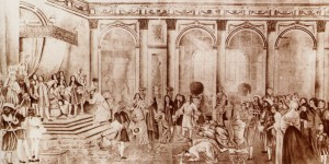 The court of King Louis XIV at Versailles, and many possible characters to write about.