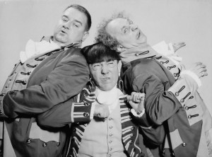 The Three Stooges, comedy icons.
